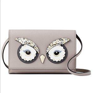 Kate Spade Star Bright Owl Summer Bag Clutch NEW